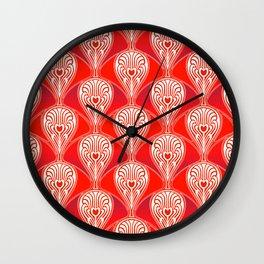 Art deco Christmas pattern. Wall Clock