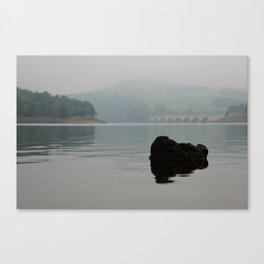 Ladybower Reservoir - The rock Canvas Print