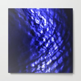 Blue ripple Metal Print