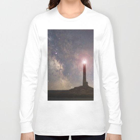 Milkyway over Thacher Island Long Sleeve T-shirt