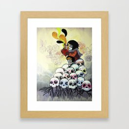 """""""Sugar Skull Song: You are Where You are Because of Them"""" 2011 Framed Art Print"""