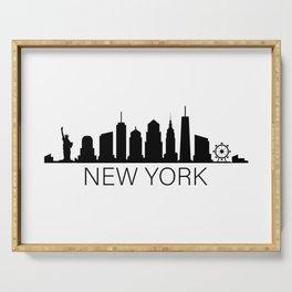 skyline new york Serving Tray