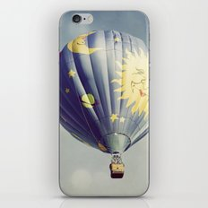 Moon and Stars Hot Air Balloon iPhone & iPod Skin