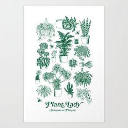 Plant Lady (dominae et plantae) Art Print