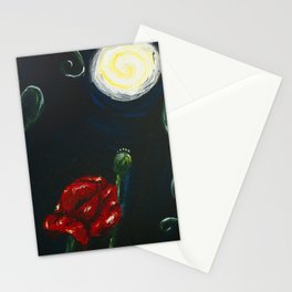 Notturno su papaveri Stationery Cards