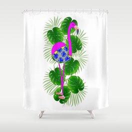tropical Flamingo Shower Curtain