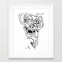 teddy bear Framed Art Prints featuring Teddy by Seth Spriggs