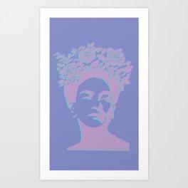 frida kahlo (purple version) Art Print