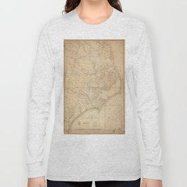 Vintage Map of Eastern North Carolina (1862) Long Sleeve T-shirt