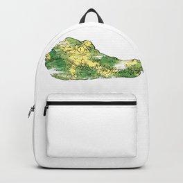 Crocodile Green Head Backpack