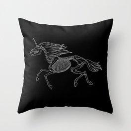 Unicorn Skeleton Throw Pillow