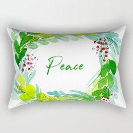 Deck the Halls Holiday Wreath Rectangular Pillow