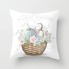 Pumpkin Patch Basket Throw Pillow