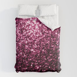 Beautiful Dark Pink glitter sparkles Comforters