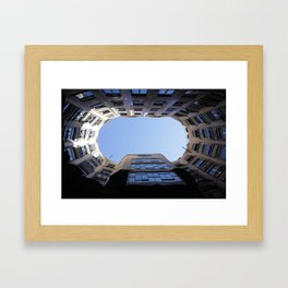 Barcelona Photography - Casa Mila La Pedrera Framed Art Print