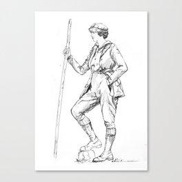 Vintage Sportswoman Canvas Print