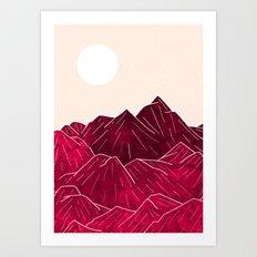 Ruby Mountains Art Print