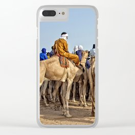 Nomads and camels - Niger, West Africa Clear iPhone Case