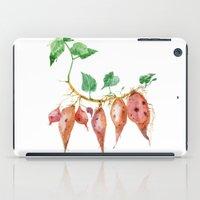 potato iPad Cases featuring Sweet potato by Ksenia Sapunkova