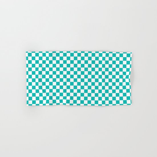 Checker (Tiffany Blue/White) Hand & Bath Towel