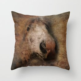 Vintage portrait of the horse Throw Pillow