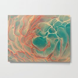 Marble Rose3 Metal Print