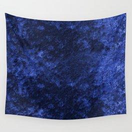 Royal blue navy velvet Wall Tapestry