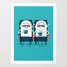 :::Cinema Couple::: Art Print