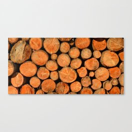 stack of wood Canvas Print