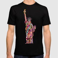 the french gift: statue of liberty Black Mens Fitted Tee LARGE