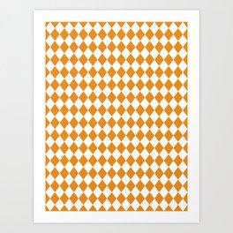 Butterscotch Gold Modern Diamond Pattern Art Print