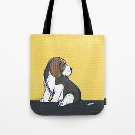 Beagle Puppy Portait by Friztin Tote Bag