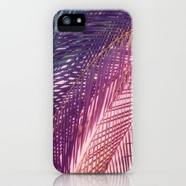 Indian Summer Boho Palm Leaves iPhone Case