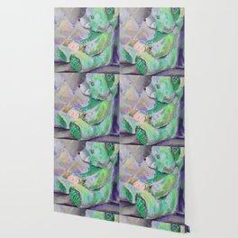 Green teddy bear Wallpaper