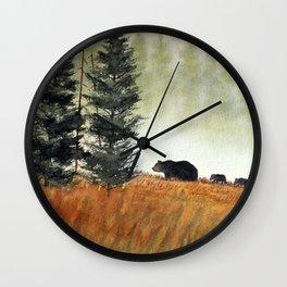 Roaming Bears In West Virginia Wall Clock