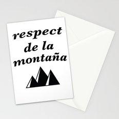 respect de la montana 2 Stationery Cards
