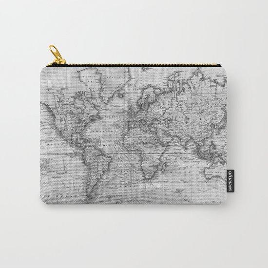Black and White World Map (1801) by bravuramedia