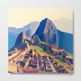 Geometric Machu Picchu, Peru Metal Print