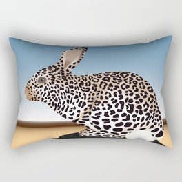 Rabbit Guepard Pattern Rectangular Pillow