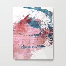 1005: a colorful abstract mixed media piece in red, pink, and blue Metal Print