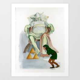 Taking the Triforce Art Print