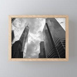Heaven's Reach in Black and White Framed Mini Art Print