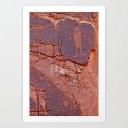 Kane Creek rock art Art Print