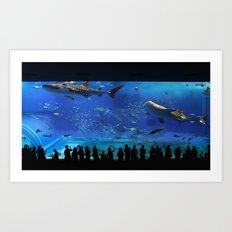 Chaurami Aquarium Whale Shark Tank Art Print