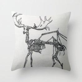 Elk skeleton Throw Pillow