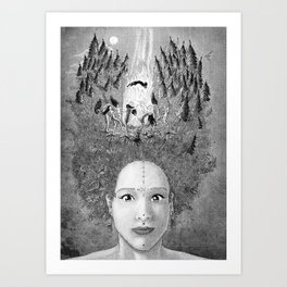Sabbath of Mother Nature Witch Art Print