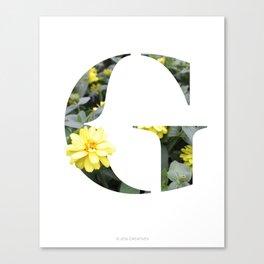 LL Series: G Canvas Print