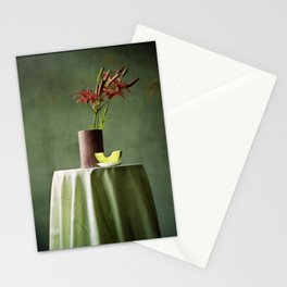 Lilies and melon, floral flowers still-life photography Stationery Cards