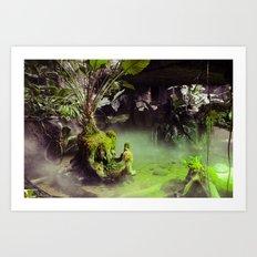 Fog // Moss. Art Print