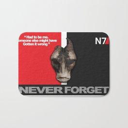 NEVER FORGET - Mordin Solus- Mass Effect Bath Mat